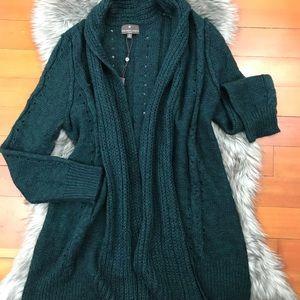 NWT Long Tunic Open Knit Cardigan